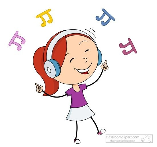 Happy music clipart graphic royalty free library Listening To Music Clipart Music Girl Happy Dancing While Listening ... graphic royalty free library