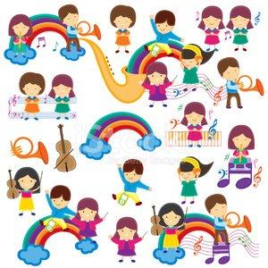 Happy music clipart vector Happy Music Kids Clip Art premium clipart - ClipartLogo.com vector