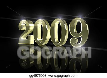 New year 2009 clipart image freeuse library Drawing - Happy new year, 2009. Clipart Drawing gg4975003 - GoGraph image freeuse library