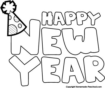 Happy new year 2016 clipart black and white jpg black and white Happy new year clipart black and white - Cliparting.com jpg black and white