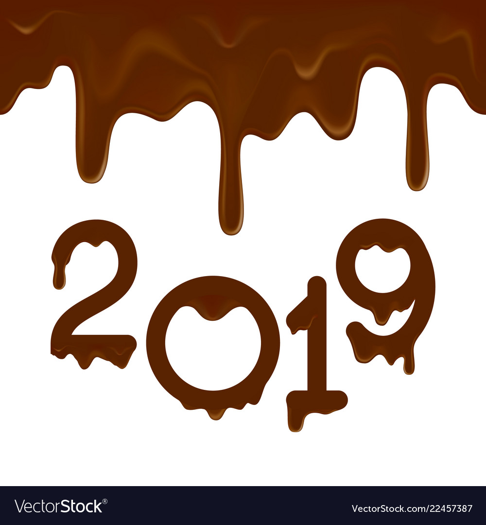 Happy new year 2019 banner clipart banner stock Happy new year 2019 banner with chocolate drips banner stock