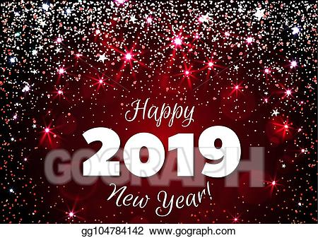 Happy new year 2019 banner clipart vector black and white stock Vector Art - Happy new year 2019. EPS clipart gg104784142 - GoGraph vector black and white stock
