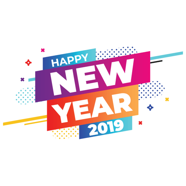 Happy new year 2019 banner clipart clipart royalty free download Happy New Year 2019 Banner transparent PNG - StickPNG clipart royalty free download