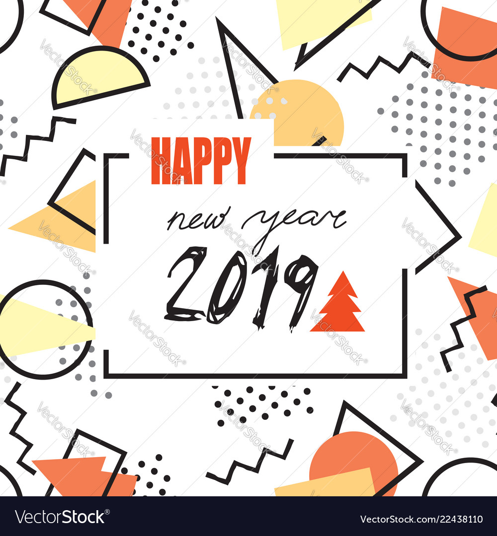 Happy new year 2019 banner clipart graphic freeuse stock Happy new year 2019 banner abstract winter graphic freeuse stock
