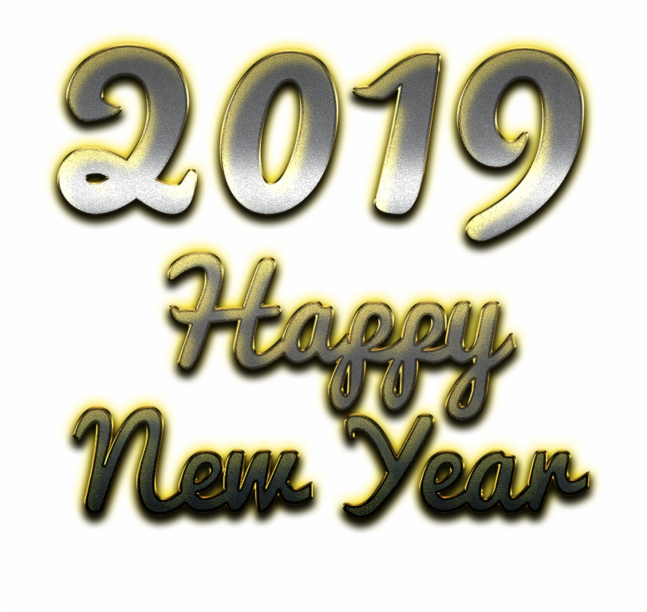 Happy new year 2019 clipart text vector library 2019 Happy New Year Png Clipart - Calligraphy, Transparent Png ... vector library