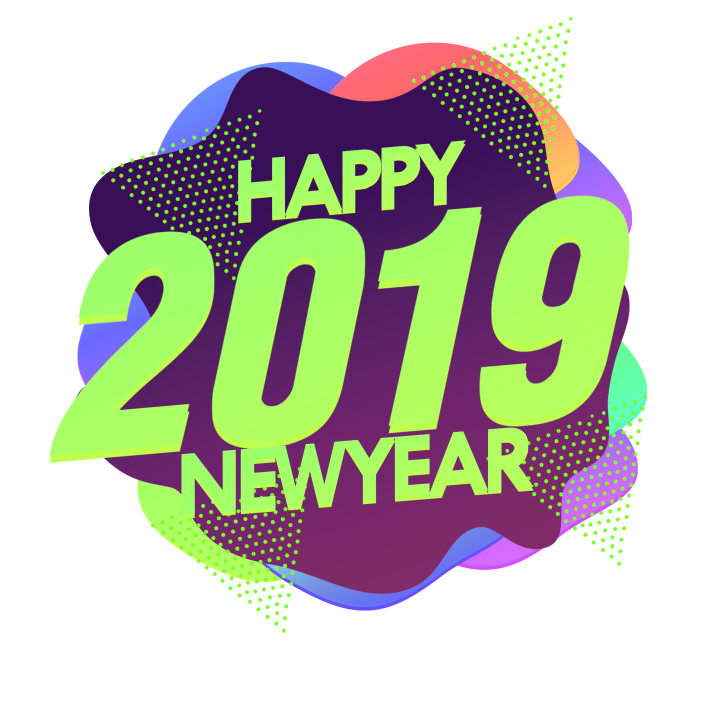 Happy new year 2019 clipart text jpg library download Happy 2019 New Year Png Image | HD New Year Png Image Free Download ... jpg library download