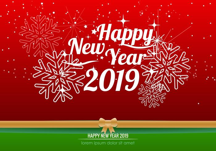 Happy new year 2019 clipart text graphic black and white stock Happy New Year 2019 Background - Download Free Vectors, Clipart ... graphic black and white stock