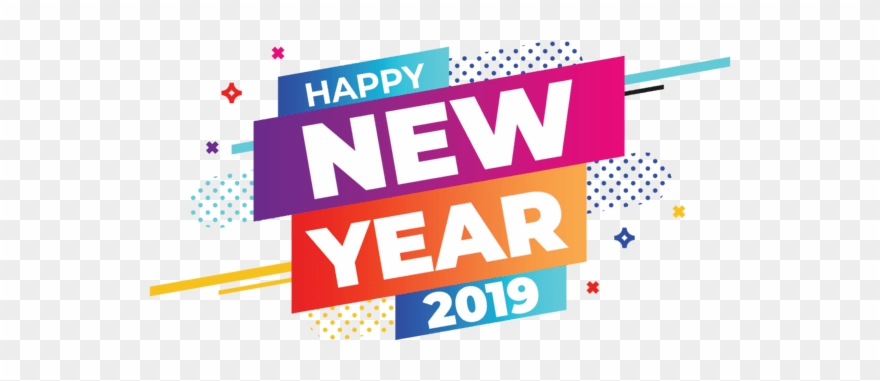 Happy new year 2019 clipart text freeuse Happy New Year 2019 Banner Clipart (#2635515) - PinClipart freeuse