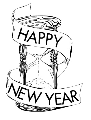 Happy new year black and white free clipart graphic freeuse download Happy New Year Clipart Black And White (90+ images in Collection) Page 1 graphic freeuse download
