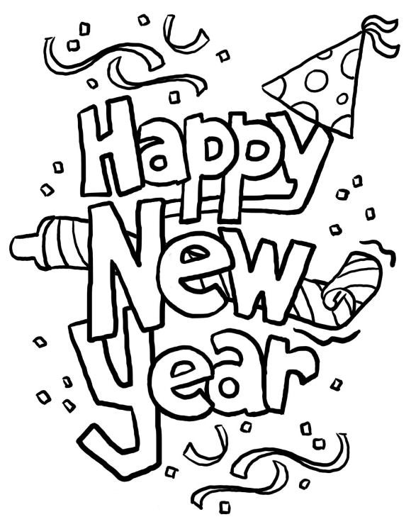 Happy new year black and white free clipart banner free Black And White New Year Clipart & Free Clip Art Images #11309 ... banner free