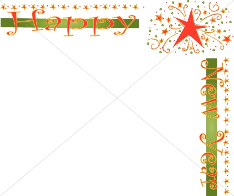 Happy new year borders clipart banner freeuse stock Stars Happy New Year Border | Christian New Years Borders banner freeuse stock