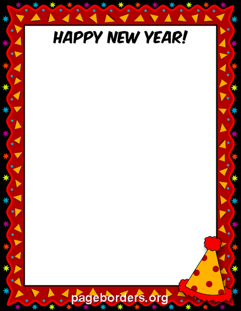 Happy new year borders clipart image black and white library Happy New Year Border: Clip Art, Page Border, and Vector Graphics image black and white library