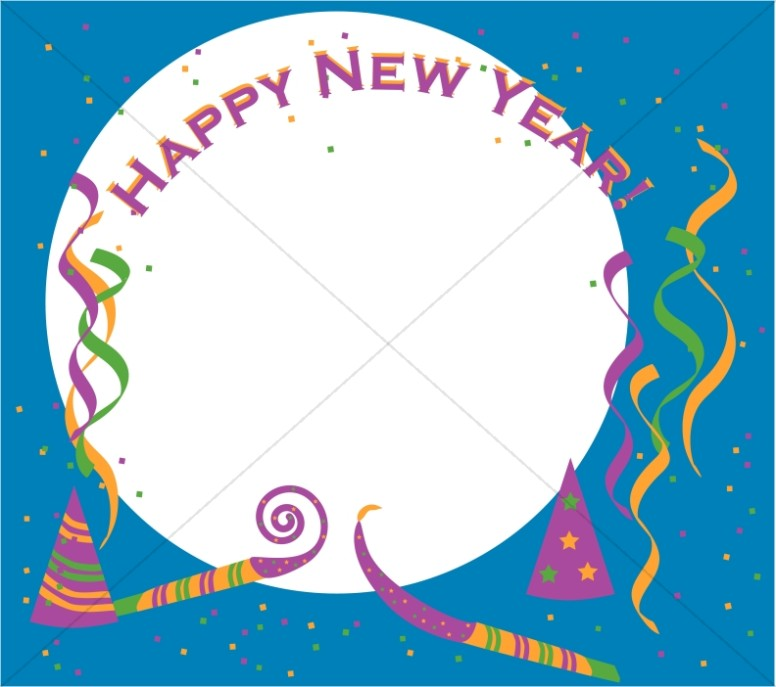 Happy new year borders clipart png freeuse Happy New Year Square | Christian New Years Borders png freeuse