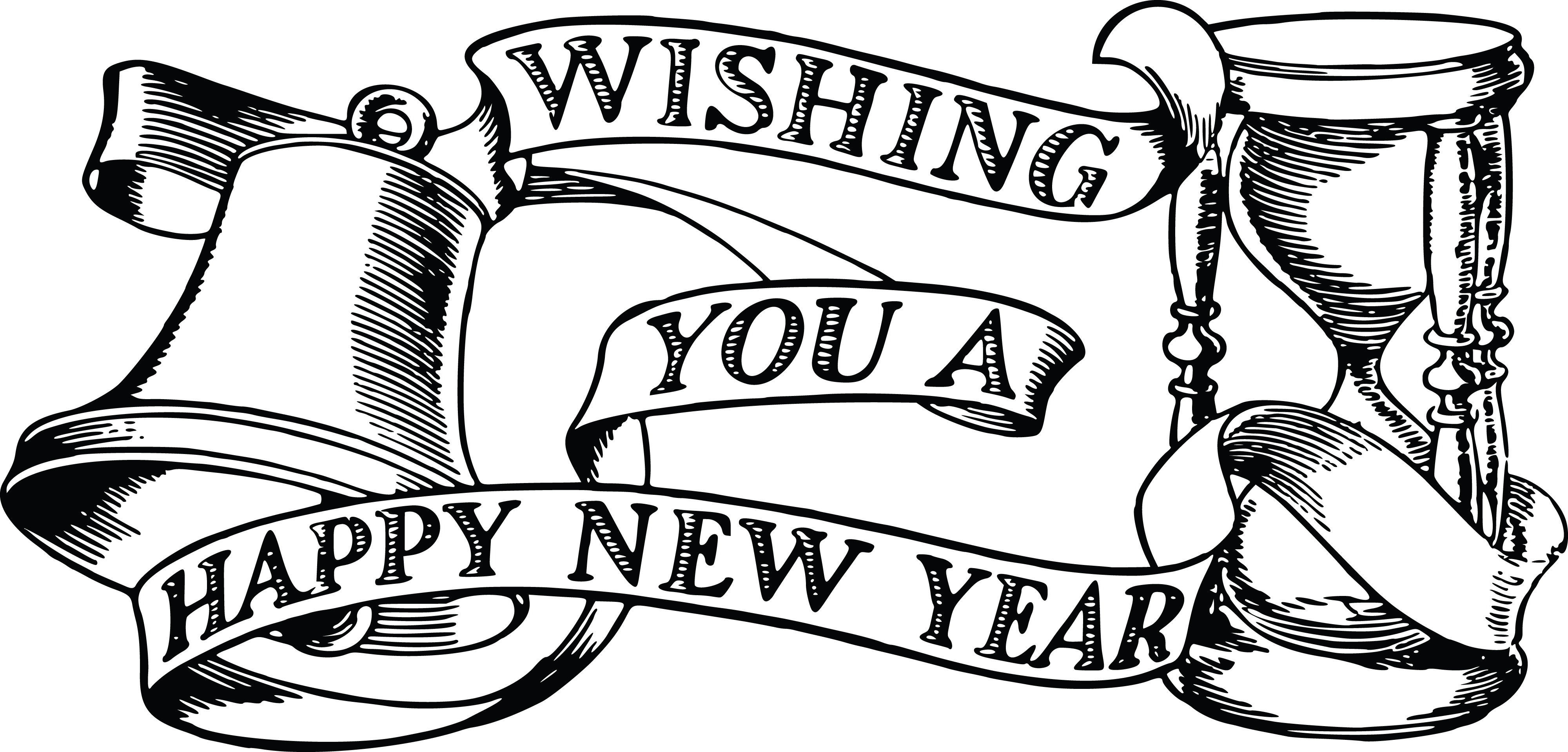 Happy new year clipart 2019 black and white clipart freeuse download Happy New Year Clipart 2019 With Images - Daily SMS Collection clipart freeuse download