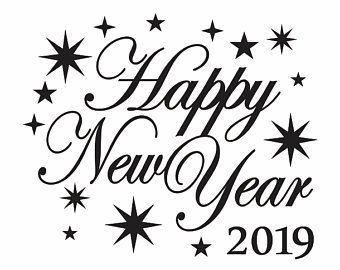Happy new year clipart 2019 black and white clip art black and white library Happy New Year Clipart Black And White (90+ images in Collection) Page 1 clip art black and white library