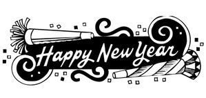 Happy new year clipart 2019 black and white png transparent stock Happy New Year Clipart Graphics Clip Art Free Transparent Png - AZPng png transparent stock