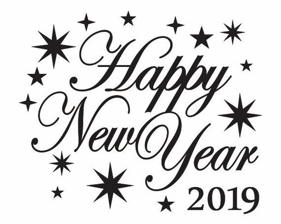 New year clipart 2019 black and white banner royalty free stock Happy New Year Clipart 2019 For You | 2019 | Happy new year 2019 ... banner royalty free stock