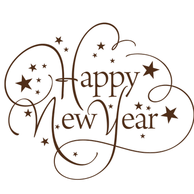 Happy new year clipart no background free vector Happy New Year Thin Text | Cricut for winter | Happy new year ... vector