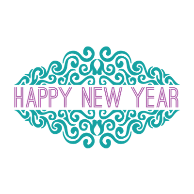 Happy new year clipart transparent background graphic free library Happy New Year Ornate transparent PNG - StickPNG graphic free library