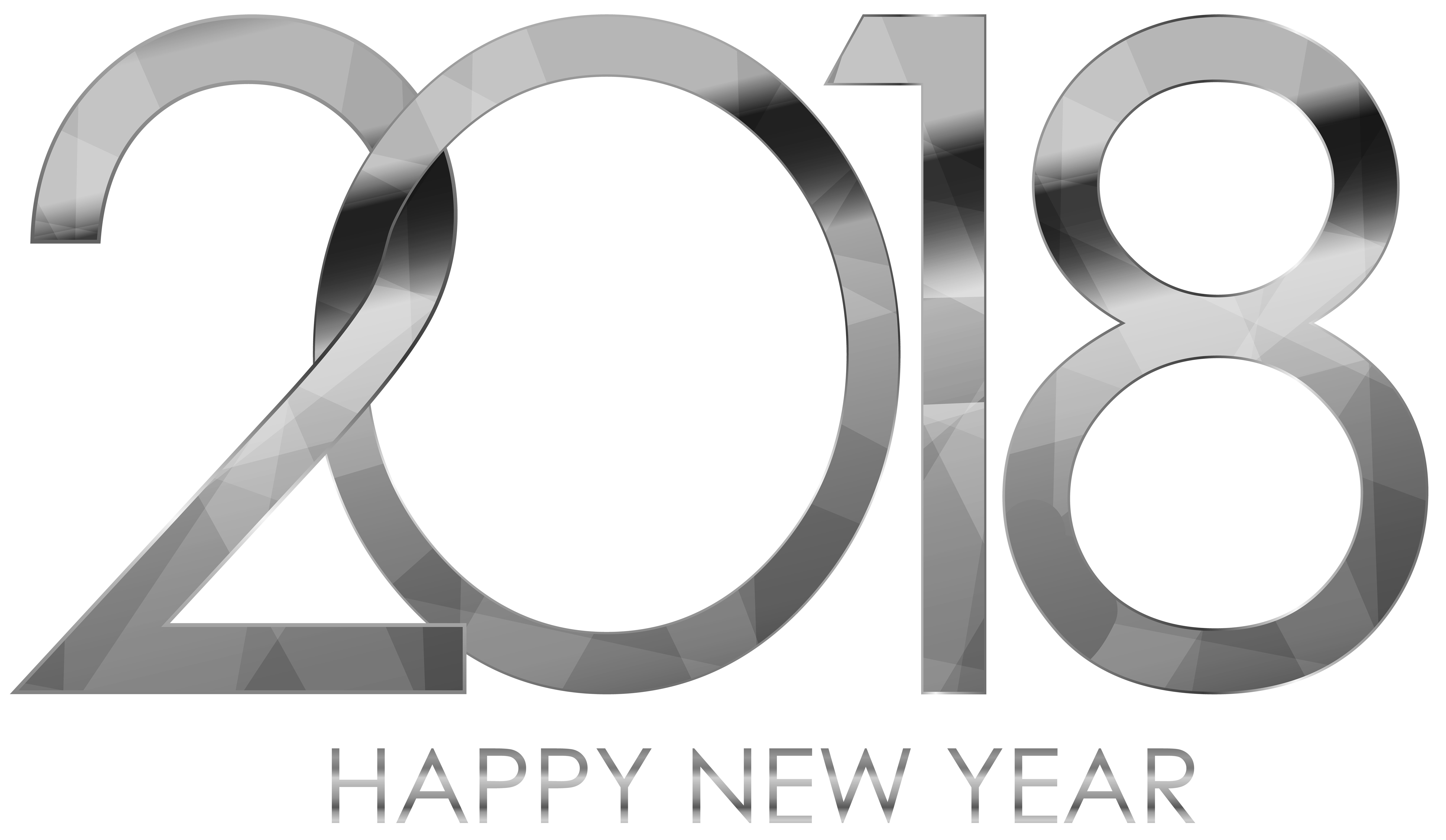Happy new year dog clipart png library New Year's Day Wish Clip art - 2018 Happy New Year Silver 8000*4647 ... png library