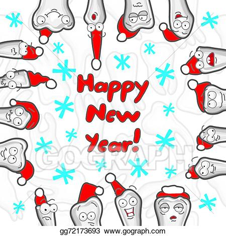 Happy new year greeting clipart picture freeuse library EPS Vector - Teeth. happy new year greeting card. Stock Clipart ... picture freeuse library