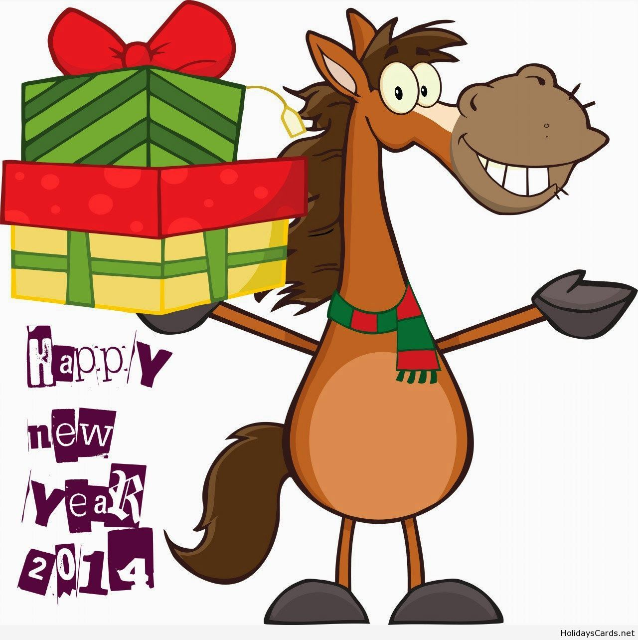 Happy new year horse clipart banner royalty free Happy new year funny horse cartoon | Happy New Year | Happy new year ... banner royalty free