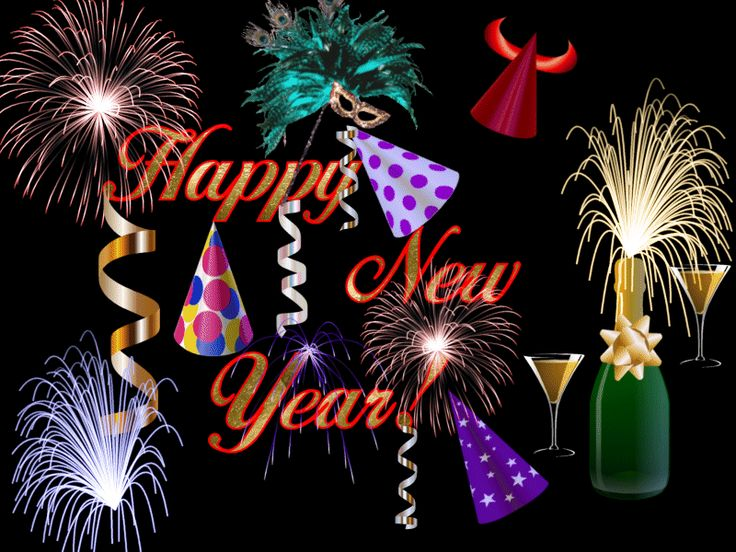 Happy new year moving clipart picture black and white Cathy Beebe (whitedove1957) on Pinterest picture black and white