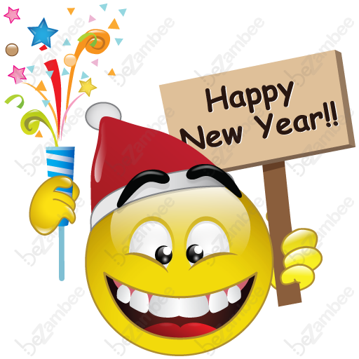 Happy new year smiley face clipart vector free stock Pin by Mel\' Harris on Smileys or Icons | Smiley emoji, Emoticon ... vector free stock