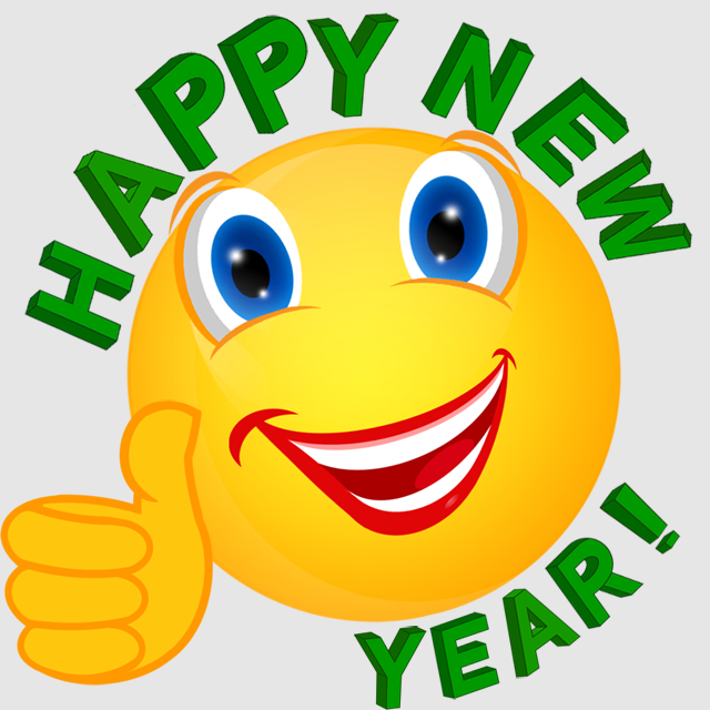Happy new year smiley face clipart graphic black and white stock Happy New Year Icon clipart - Smiley, Emoticon, Green, transparent ... graphic black and white stock