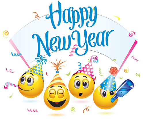 Happy new year smiley face clipart image royalty free Happy New Year Emoticons | FaceBook-Symbols-Emoticons | Happy new ... image royalty free