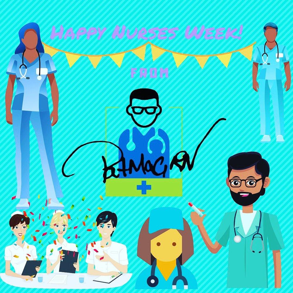 Happy nurses week 2018 clipart vector library library Happy Nurses Week 2018 — PatMac,RN vector library library