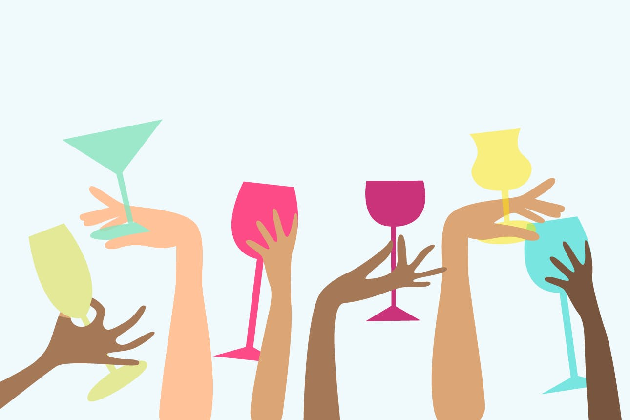 Happy person sayimg no to alcohol clipart image library 10 Tips for Fake Drinking When You\'re Secretly Pregnant | Brit + Co image library