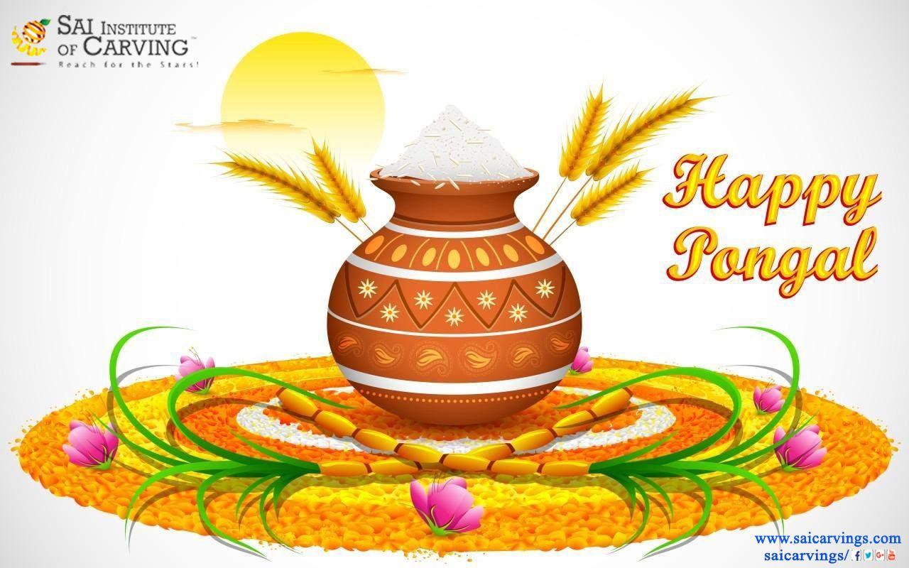 Happy pongal clipart image transparent stock Happy Pongal | Sai Institute of Carving | Happy pongal, Happy lohri ... image transparent stock