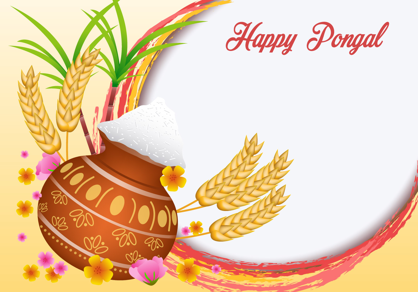 Happy pongal clipart vector black and white Pongal Free Vector Art - (10,800 Free Downloads) vector black and white