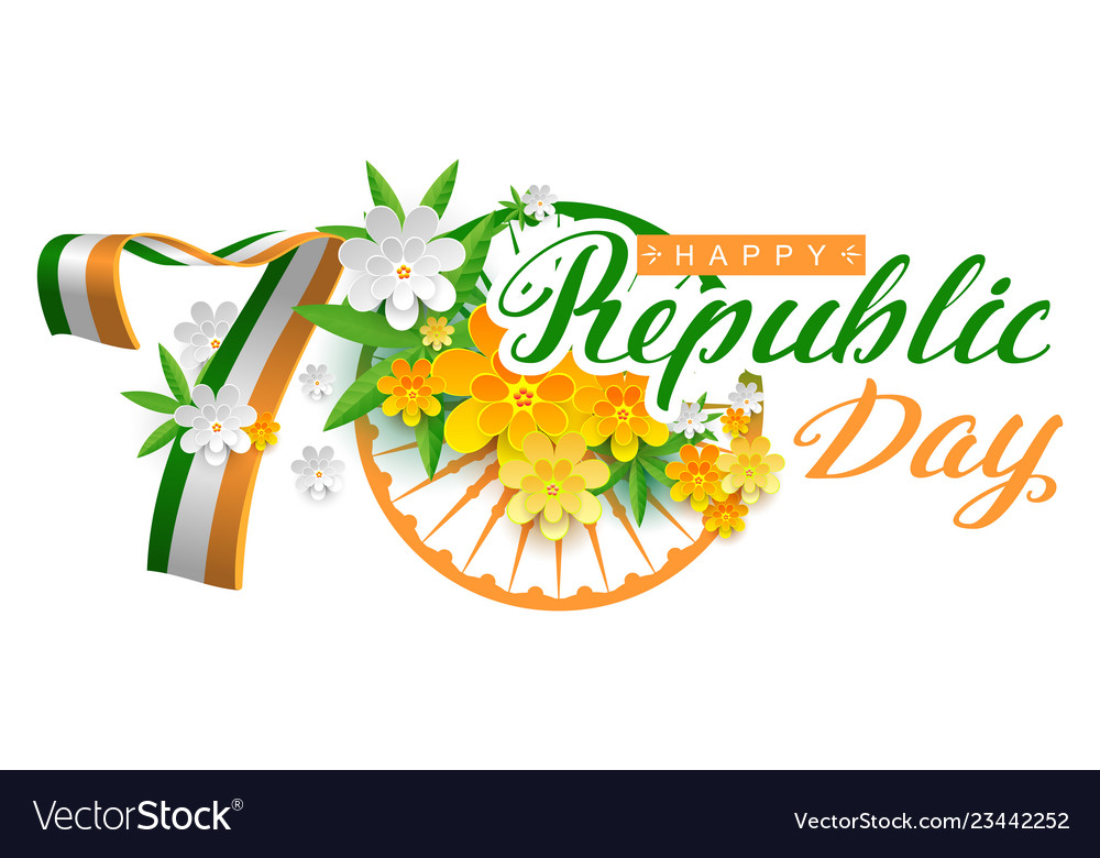 Happy republic day clipart picture India happy republic day 70 years lettering text picture