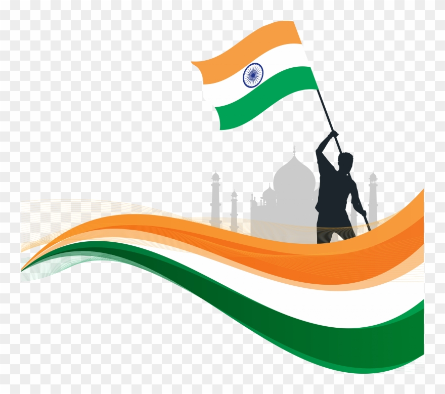 Happy republic day clipart banner royalty free download Indian Republic Day Flyaing Indian Flag Png - Happy Republic Day ... banner royalty free download