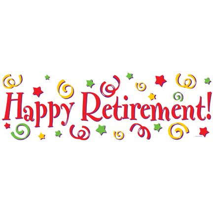 Happy retirement banner clipart clipart free library Happy Retirement Banner - Welcome to Party Hunterz - India\'s # 1 ... clipart free library