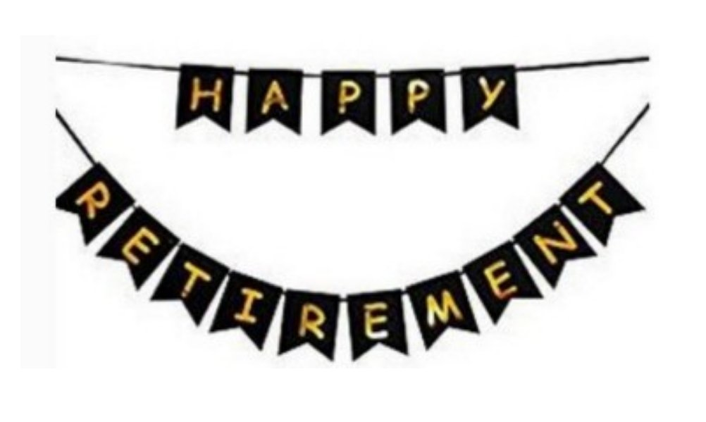Happy retirement banner clipart jpg free Amazon.com: E&L Black Happy Retirement Banner, Retirement Party ... jpg free