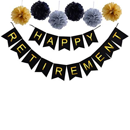 Happy retirement banner clipart graphic download Threemart \