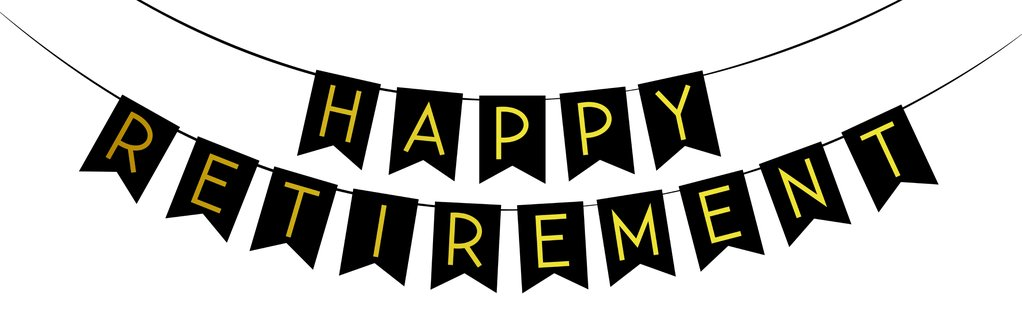 Happy retirement banner clipart svg free stock Happy Retirement\