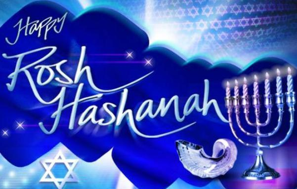 Happy rosh hashanah clipart banner library Happy Rosh Hashanah Candle Stand And Horn Picture banner library