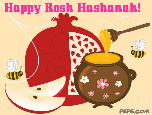 Happy rosh hashanah clipart black and white stock Happy Rosh Hashanah | Happy Rosh Hashanah! - greeting card on PEPE ... black and white stock
