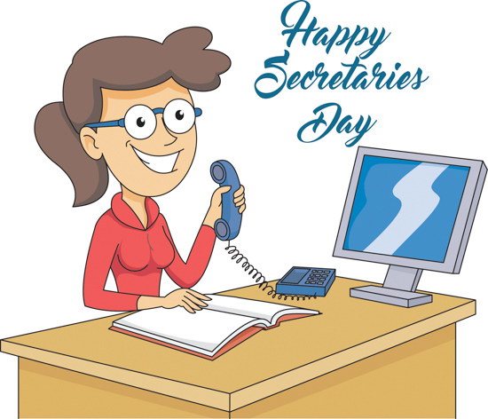 Happy secretary clipart clip transparent stock Secretarys Day Clipart Secretaries Day At Desk Happy - Free Clipart clip transparent stock