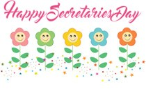 Happy secretary clipart clipart free download Happy Secretaries Day Cute Flowers Clipart » Clipart Portal clipart free download