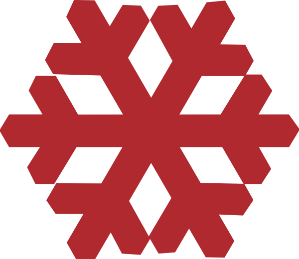 Mitten snowflake clipart image royalty free library Red Snowflake Clip Art at Clker.com - vector clip art online ... image royalty free library