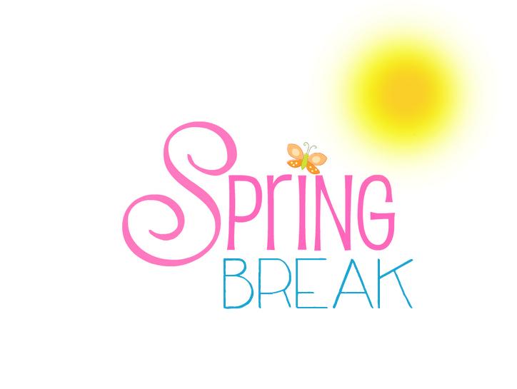 Spring break countdown clipart