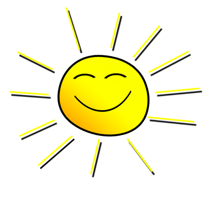 Happy sun clipart no background svg black and white download Smiling sunshine clipart - Clipartix svg black and white download