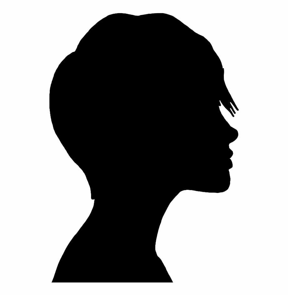 Happy teen girl in hair bun clipart clip download Face Silhouette Of Teenage Girl - Girl Face Silhouette Png Free PNG ... clip download