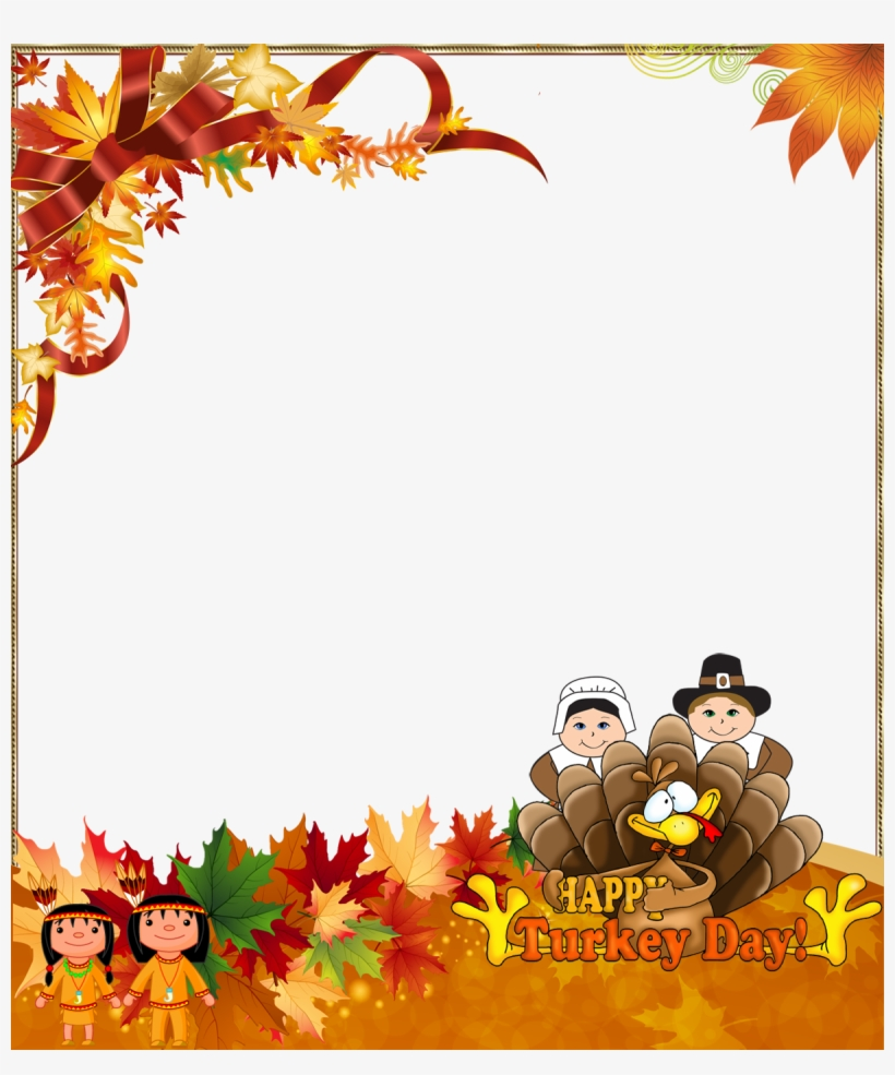 Happy thanksgiving clipart borders svg free Thanksgiving Border Png - Happy Thanksgiving Frame Png - Free ... svg free