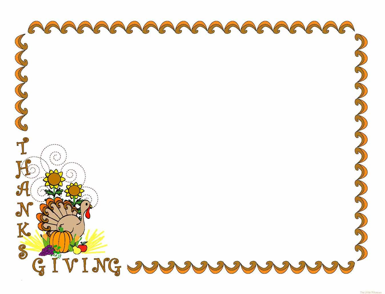 Happy thanksgiving clipart borders banner freeuse download Thanksgiving Clip Art | ... ,Thanksgiving, turkey,happy,Clown,layout ... banner freeuse download